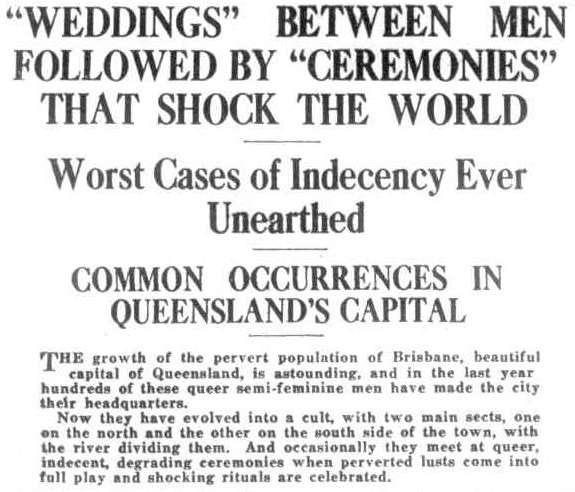 Brisbane's secret history of same-sex weddings
