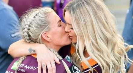 Ali Brigginshaw NRLW state of origin kiss