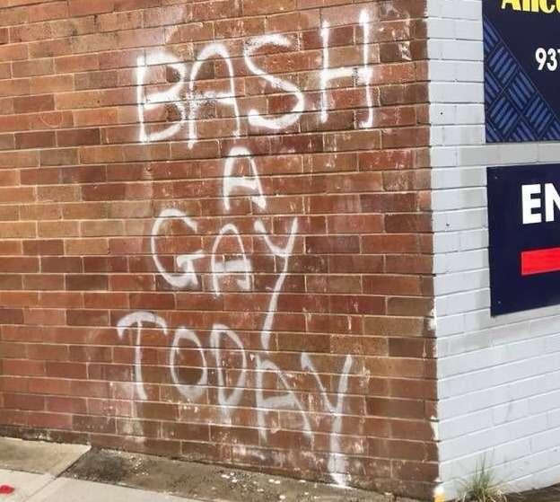 Sydney homophobic graffiti bash a gay