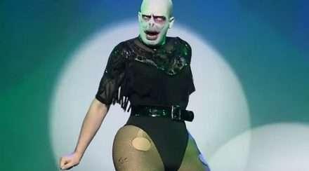 Drag queen Lady Voldemort