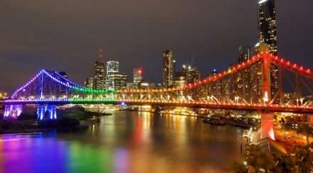 story bridge brisbane queensland rainbow lights idahobit queensland council for lgbti health
