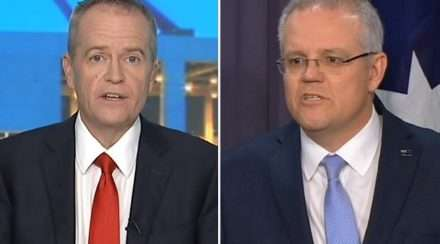 Bill Shorten Scott Morrison Composite photo