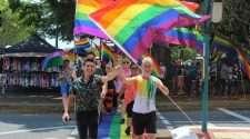 Cairns Tropical pride rainbow crossing