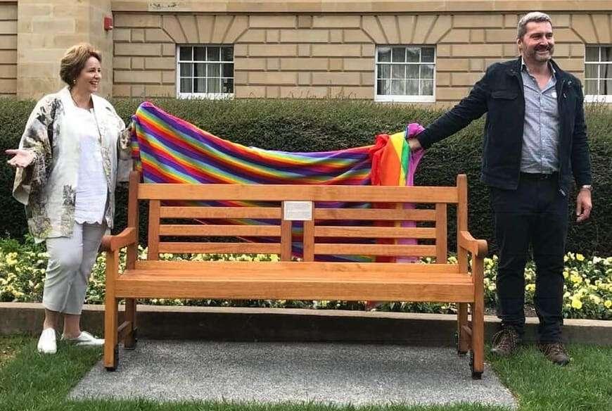Tasmania lgbtiq equality memorial bench