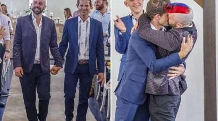 Michael James wedding brisbane pride