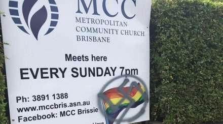 MCC Brisbane swastika vandalism