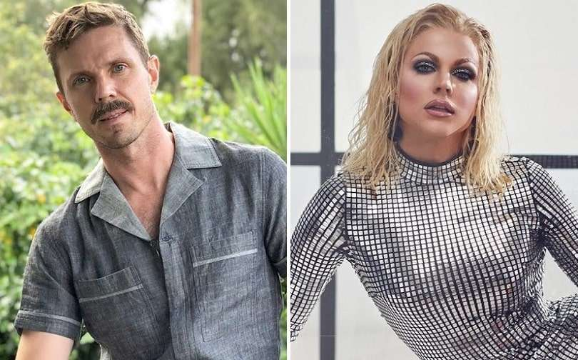 Jake Shears and Courtney Act