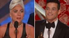 Lady Gaga and Rami Malek Oscars 2019