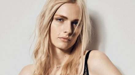 trans model Andreja Pejic models bonds