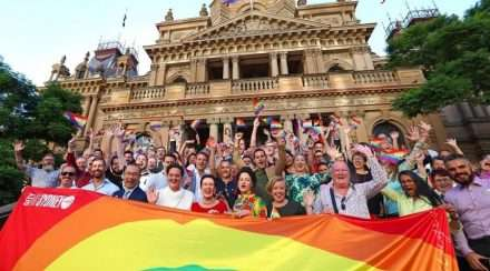 city of sydney rainbow flag