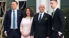 Ireland PM leo varadkar meets with us vice president Mike Pence