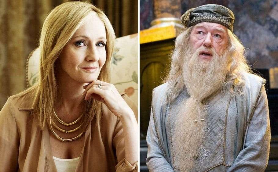 jk rowling albus dumbledore harry potter