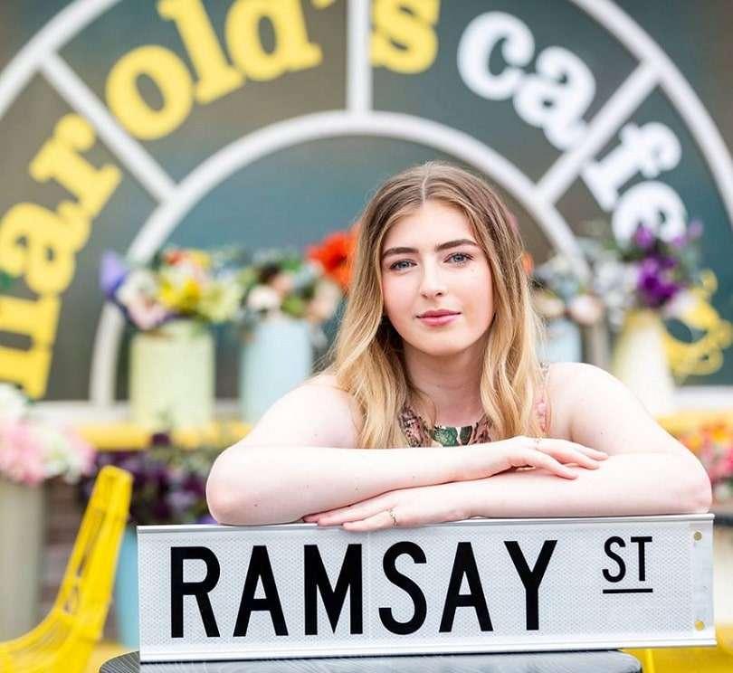transgender teen georgie stone on the set of network 10's neighbours