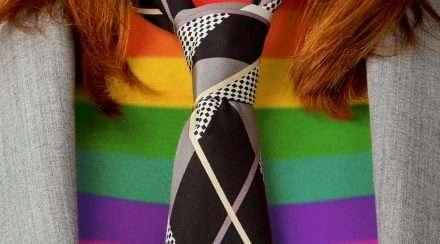 lgbtiq rainbow undershirt business outfit workplace