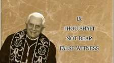 pope benedict xvi false witness
