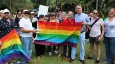 brisbane protest against brunei anti-gay laws