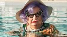 barry humphries as Dame edna in absolutely fabulous the movie