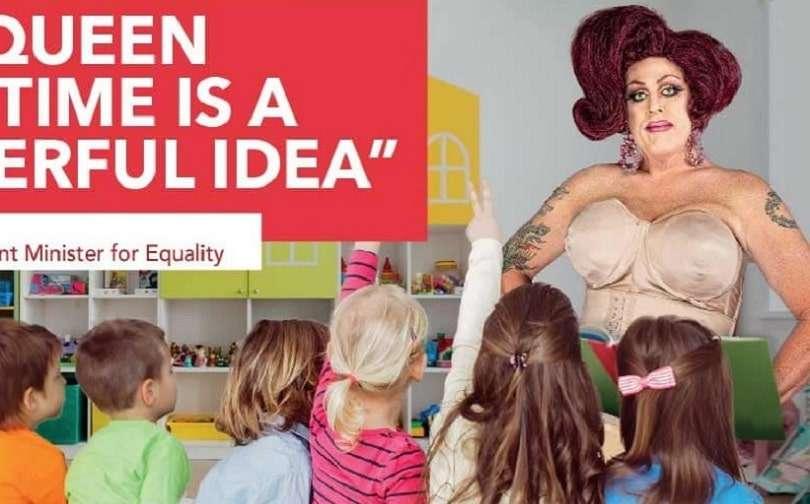 binary australia labor attack ad drag queen story time