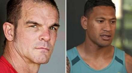 openly gay nrl player ian roberts and wallabies star israle folau