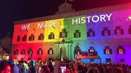 malta same-sex marriage rainbow parliament