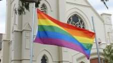 uniting church in australia church rainbow flag same-sex marriages