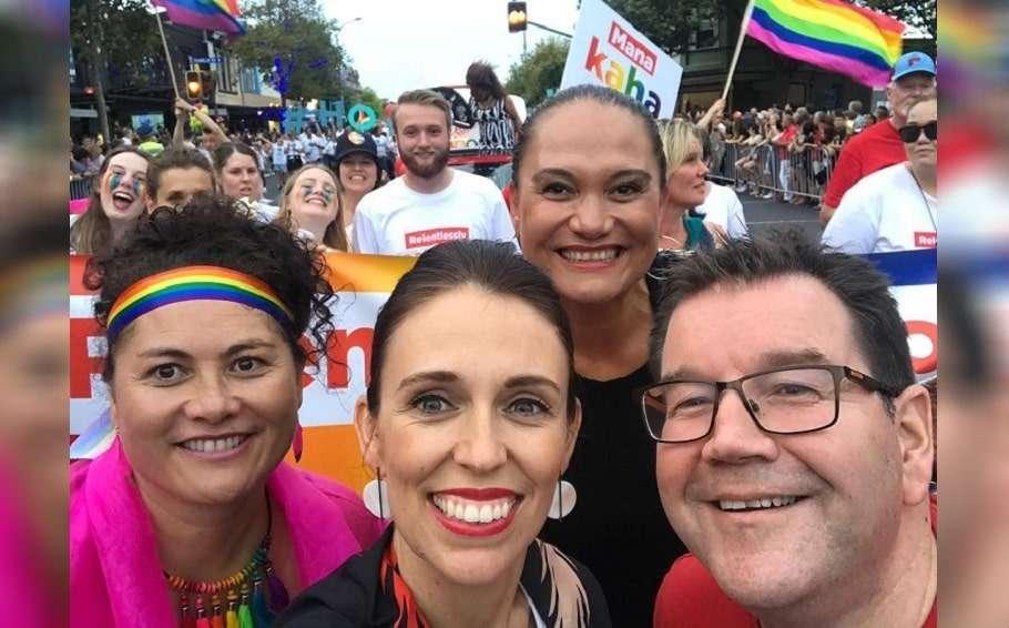 new zealand prime minister jacinda ardern auckland pride parade transgender funding