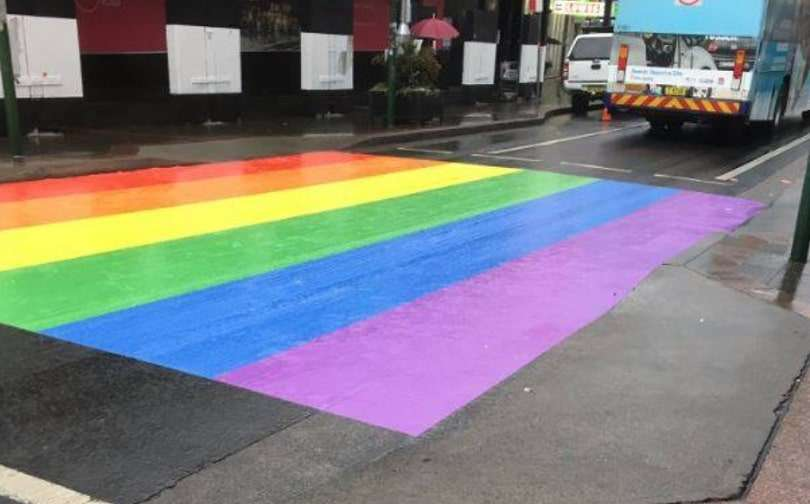 hurstville sydney georges river council rainbow crossing pride month