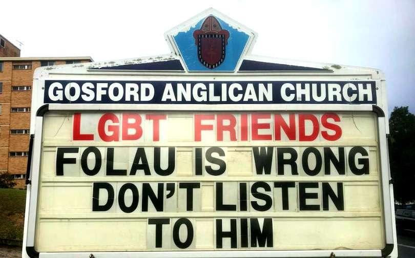 Gosford Anglican Church Israel Folau's tirade