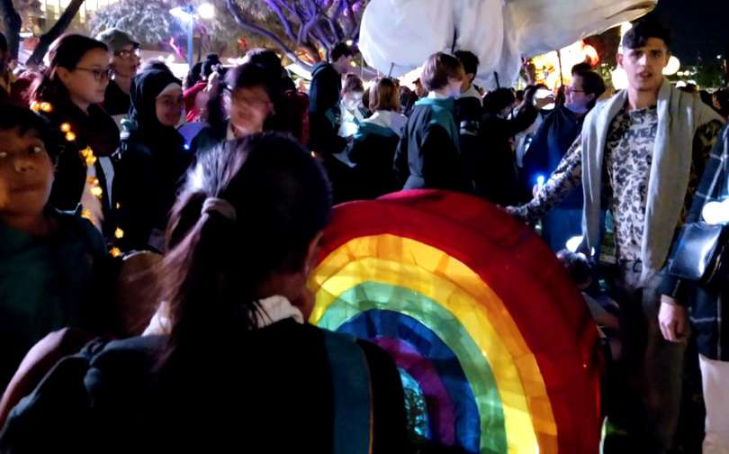 luminous lantern parade rainbow hub