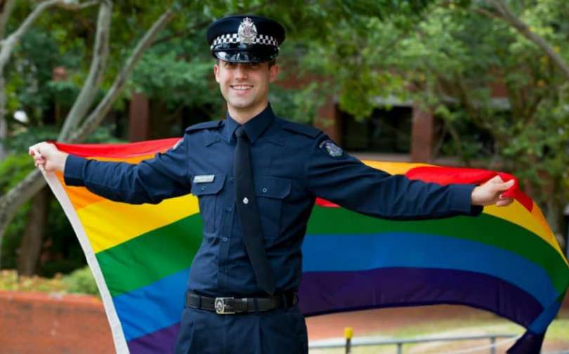 Senior Constable Brenton Erkens-Goss lgbtiq police liaison