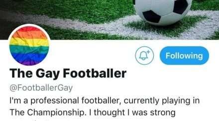 twitter gay footballer account screenshot