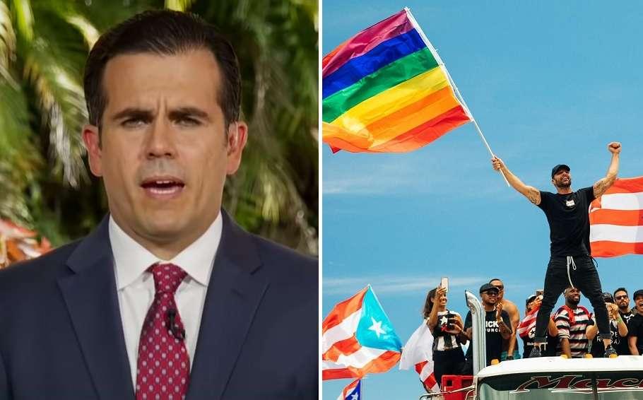 puerto rico governor Ricardo Rossello ricky martin homophobia scandal
