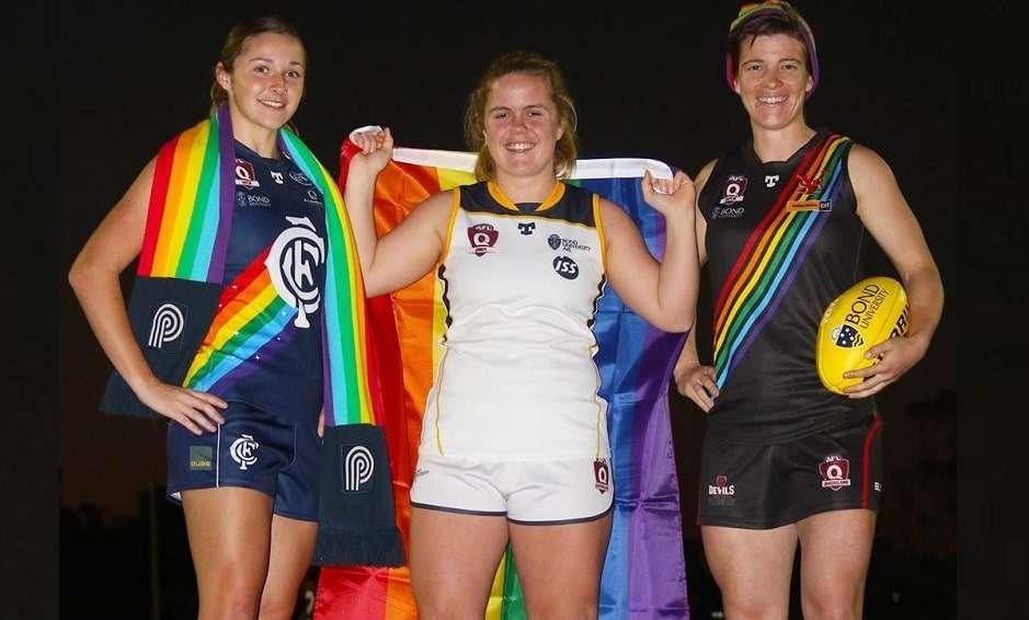 afl queensland pride round rainbow flag sport