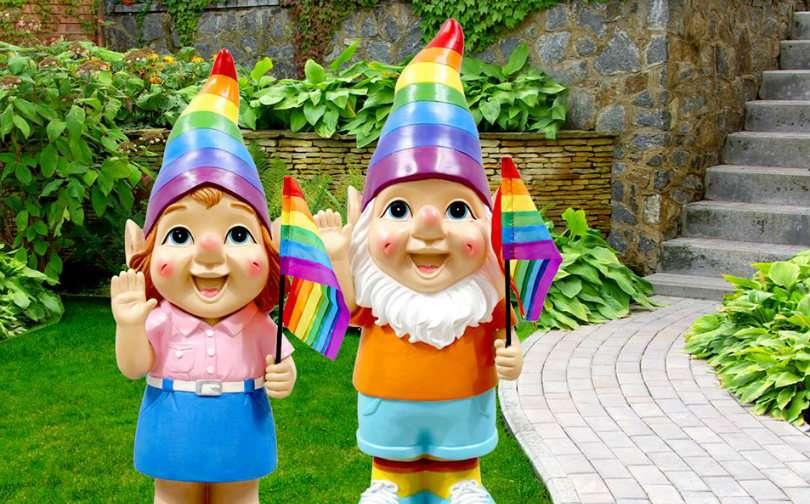 rainbow garden gnomes