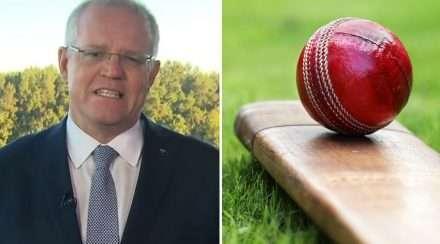 scott morrison cricket composite