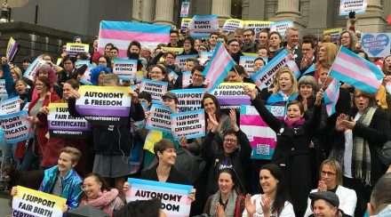 equality australia transgender victoria melbourne birth certificates gender