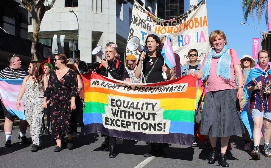 religious discrimination brisbane protest rally religious freedom