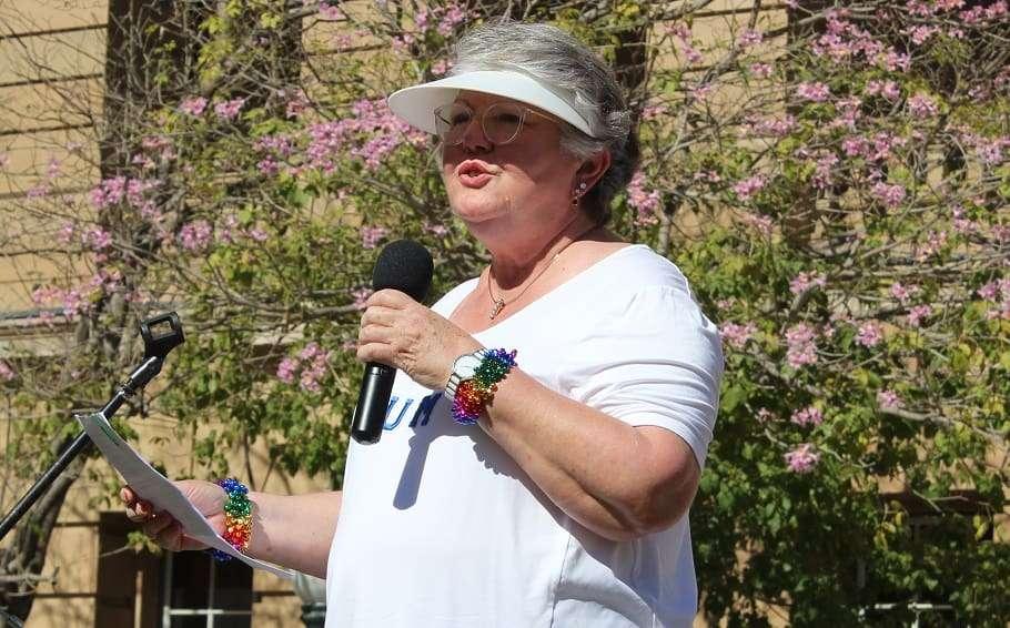 pflag spokesperson shelley argent religious discrimination rally brisbane religious freedom