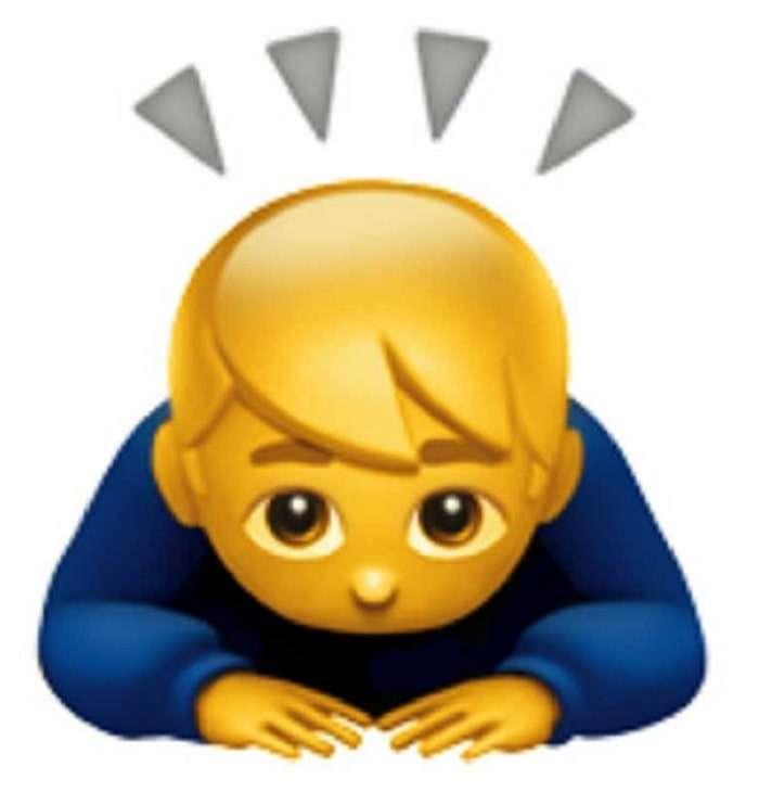emoji bowing man courtney act bottoming