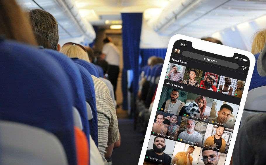 airport plane stock photo grindr hookup gay man reddit