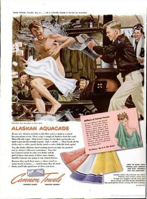 canon towels vintage ad