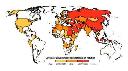 religious freedom ranking religious discrimination