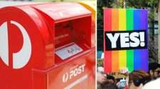 australia post box yes sign marriage equality same-sex marriage