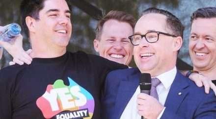 alan joyce shane lloyd same-sex marriage gay couple sydney wedding