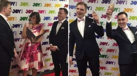 joy 94.9 wedding gay couple same-sex marriage