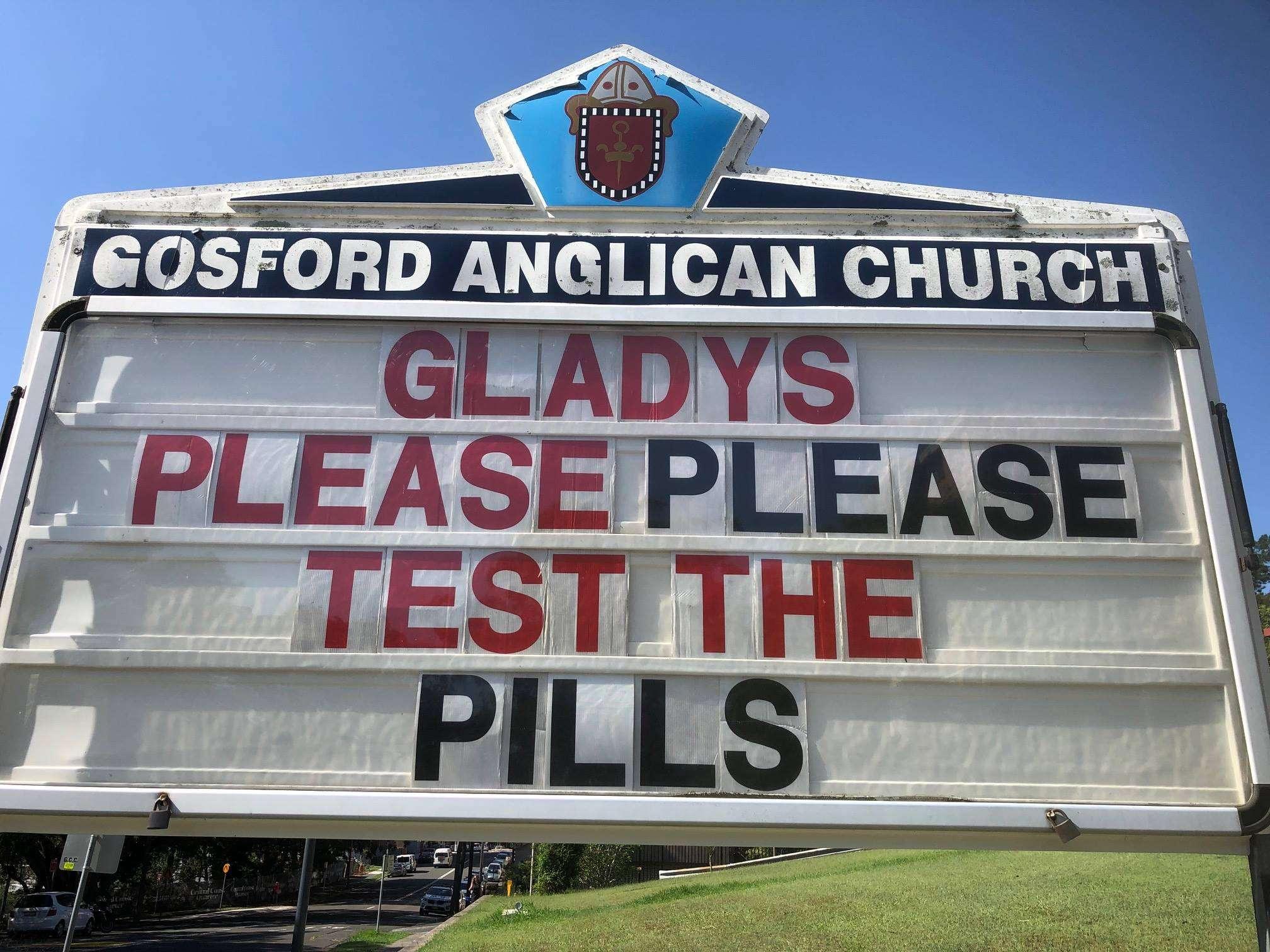 Pill testing Gladys