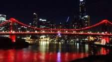world AIDS day queensland story bridge red lights hiv