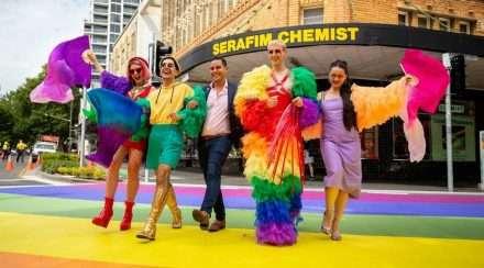 sydney rainbow crossing taylor square