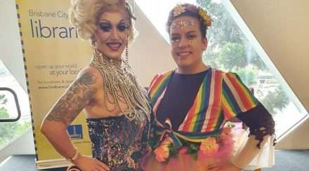 drag storytime diamond johnny valkyrie protesters uq liberal national club