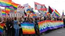 lgbt demonstration russia st petersburg ukraine chechnya gay purge torture